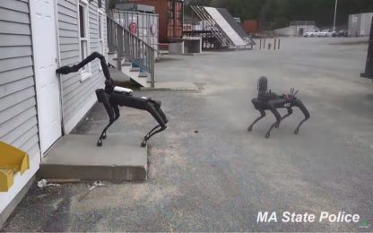 La polizia del Massachusetts testa i cani robot, è polemica