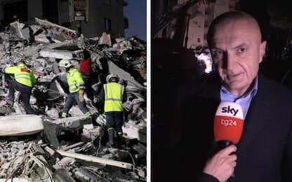 Terremoto Albania, il presidente Meta a Sky TG24: grazie Italia. VIDEO