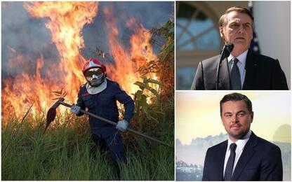 Jair Bolsonaro accusa Leonardo Di Caprio per gli incendi in Amazzonia