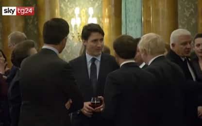 Macron, Trudeau, Rutte e Johnson prendono in giro Trump. VIDEO