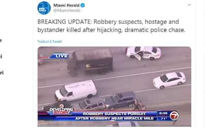 Florida, rapina e inseguimento: 4 morti in una sparatoria