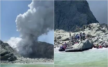 Nuova Zelanda, erutta vulcano: 5 vittime. FOTO