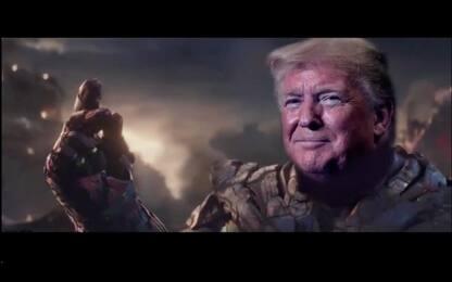 Impeachment, Trump diventa Thanos e spazza via Pelosi. VIDEO