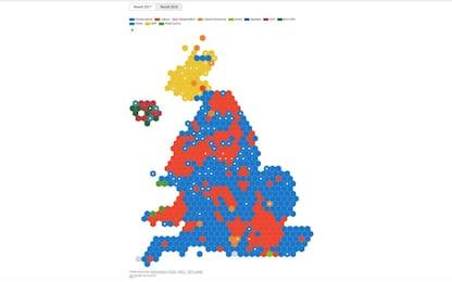 Elezioni Uk, risultati: maggioranza assoluta a conservatori di Johnson