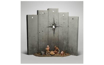 "A Betlemme il presepe ""con cicatrice"" di Banksy. LA FOTO"