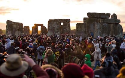 Stonehenge, le celebrazioni per il solstizio d'inverno. FOTO