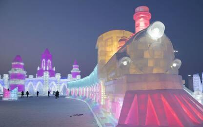 Cina, lo spettacolo dell'Harbin Ice and Snow World. FOTO