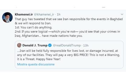 Khamenei attacca Trump via Twitter: ragiona prima di scrivere