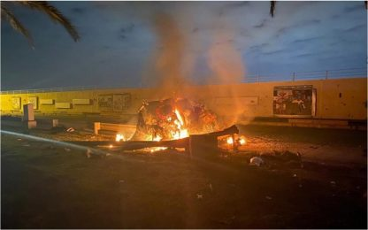 Missili Usa su aeroporto di Baghdad, ucciso Soleimani. FOTO