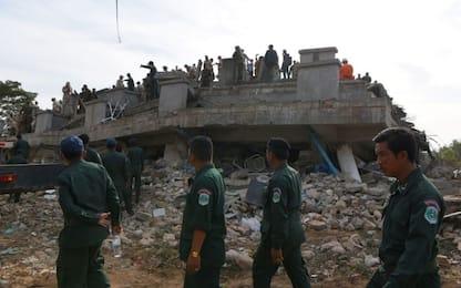 Cambogia, crolla hotel in costruzione, almeno 7 morti