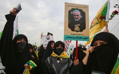 Attacco Usa in Iraq, i funerali di Soleimani a Baghdad. LIVE
