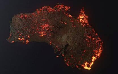 Australia, un mese di incendi: l'immagine diventata virale