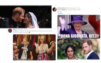 Harry e Meghan, le reazioni online dopo il passo indietro