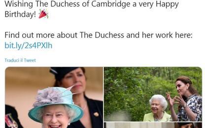 Gli auguri social della regina a Kate Middleton