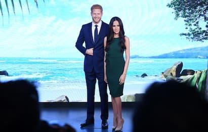 Harry e Meghan, al Madame Tussauds statue spostate dalle stanze reali