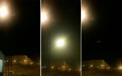 Aereo caduto in Iran, il momento dell'impatto. FOTO