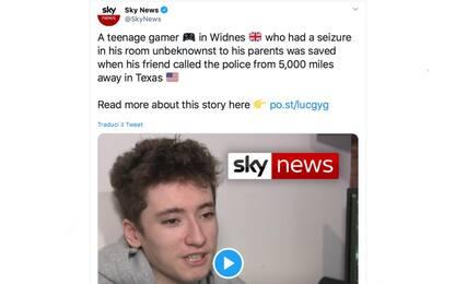 Uk, ragazzo sta male mentre gioca online: salvato da un'amica in Texas