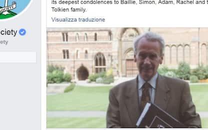 Morto Christopher Tolkien, figlio dell'autore del Signore degli anelli