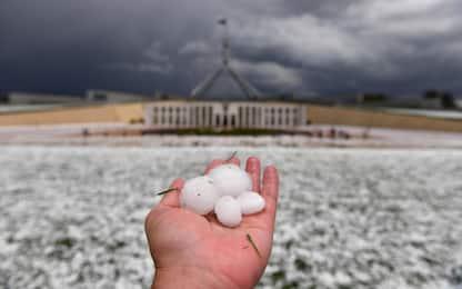 Australia, tempesta di grandine su Canberra. FOTO