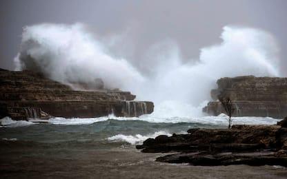 Spagna, tempesta Gloria su Baleari e area di Valencia. FOTO