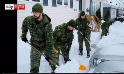 Bufera di neve in Canada, stato di emergenza in Labrador. VIDEO