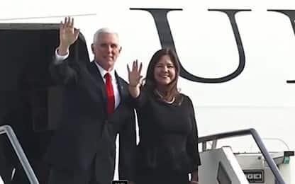 Il vicepresidente Usa Mike Pence in Italia: l'arrivo a Ciampino. VIDEO
