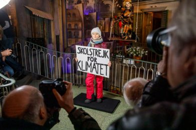 Greta Thunberg, la sua statua di cera al museo di Amburgo