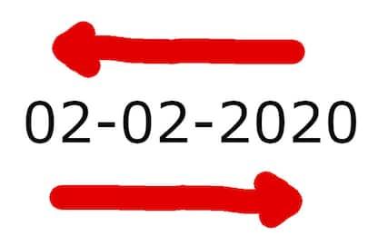Oggi è il 02-02-2020, una data palindroma mondiale