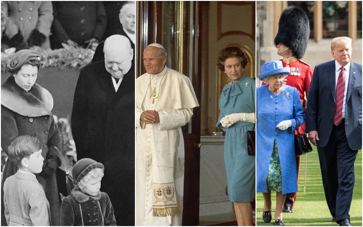 68 Anni Di Regno Della Regina Elisabetta Gli Incontri Con I Grandi Della Terra