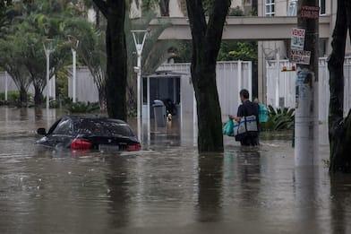 Alluvione in Brasile, disagi e allagamenti a San Paolo. FOTO