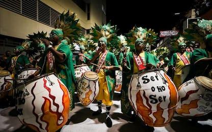 Carnevale in Uruguay, la sfilata delle llamadas. FOTO