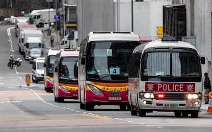 Coronavirus, passeggeri Diamond tornano a Hong Kong. FOTO