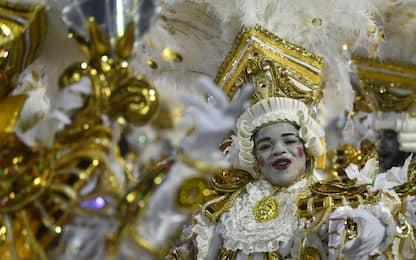 I colori del Carnevale di Rio de Janeiro. FOTO