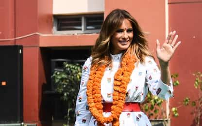 Melania Trump in India visita una scuola a Nuova Dehli. FOTO