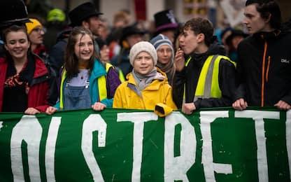 Clima, Greta Thunberg guida la protesta a Bristol. FOTO