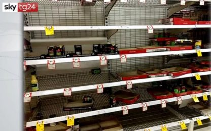 Coronavirus, all'estero primi scaffali vuoti nei supermercati. VIDEO