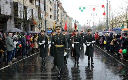 Lituania, la parata per i 30 anni dell'indipendenza