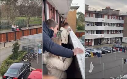 Coronavirus, in Irlanda tombola dai balconi del condominio. VIDEO
