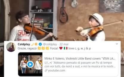 Coronavirus, piccoli violinisti conquistano Coldplay con Viva la Vida