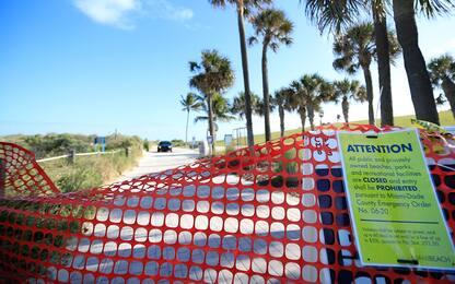Coronavirus, Miami Beach e le altre spiagge deserte. FOTO