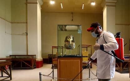 Coronavirus, al Cairo disinfezione al Museo Egizio. FOTO
