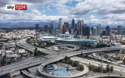 Coronavirus, Los Angeles in lockdown vista dal drone. VIDEO