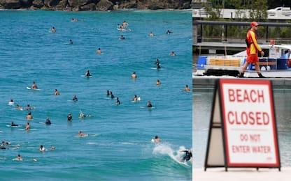 Covid-19, Australia: spiagge chiuse, altre piene di surfisti