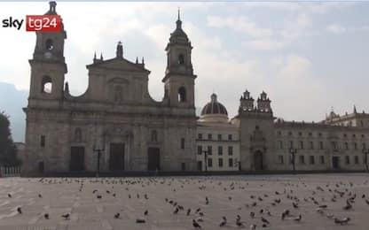 Coronavirus Colombia, lockdown per le vie della capitale. VIDEO