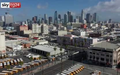 Coronavirus, Los Angeles deserta ripresa da un drone. VIDEO