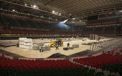 Regno Unito, il Principality Stadium trasformato in ospedale