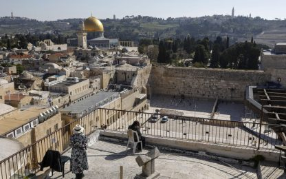 Coronavirus, la Pasqua in una Gerusalemme deserta. FOTO