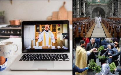 Coronavirus, messe di Pasqua chiese vuote e videoconferenze