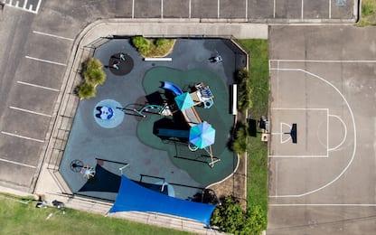 Coronavirus, i parchi gioco in Australia sono vuoti. FOTO