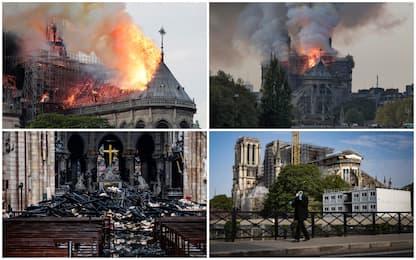 Incendio Notre Dame, un anno fa il rogo a Parigi